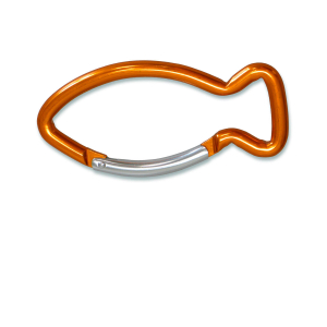 Schlüsselanhänger Karabiner Fisch - orange