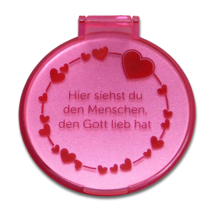 Taschenspiegel - Herzen| rosa