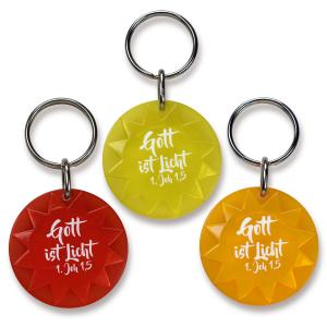 Schlüsselanhänger - Sonne | orange