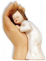 Figur Mädchen in Hand