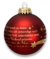 Christbaumkugel - Und der Engel sprach...