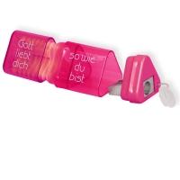 Radiergummi und Anspitzer (pink)