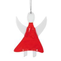 Baumschmuck aus Glas - Engel | rot
