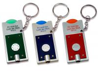 Schlüsselanhänger mit Einkaufswagenchip | blau