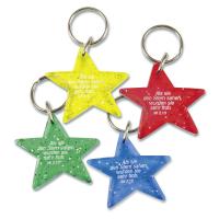 Schlüsselanhänger Stern | gelb