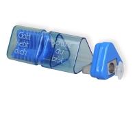 Radiergummi und Anspitzer (blau)