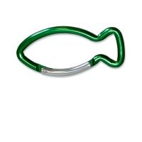Schlüsselanhänger Karabiner Fisch - grün