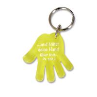 Schlüsselanhänger Hand | gelb